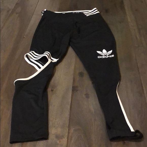 adidas leggings cut out